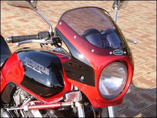 バイク用品 外装 カウルシックデザイン ロードコメット CブレイシングRED クリア X-11CHIC DESIGN RC41-CRD 取寄品 スーパーセール