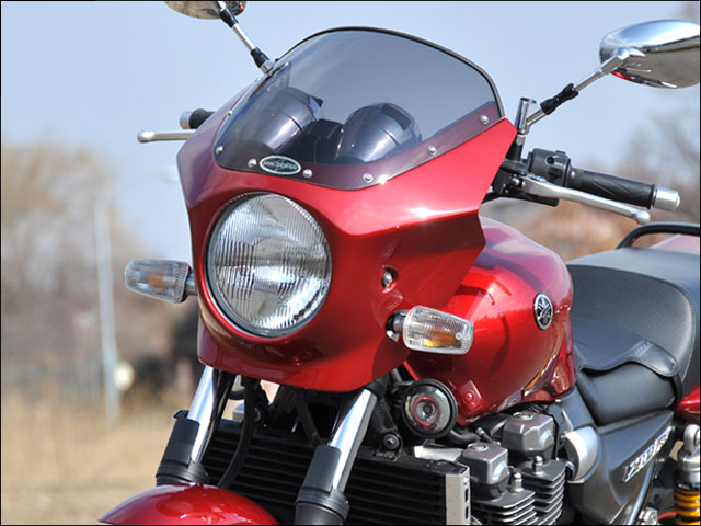 スーパーセール バイク用品 外装 カウルシックデザイン マスカロード ブラックメタリックX クリア XJR1300CHIC DESIGN MQ33-BKMX 取寄品