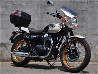 バイク用品 外装 カウルシックデザイン ロードコメット メタリックDブラック スモーク W650CHIC DESIGN RC48-MDBK/2 取寄品 スーパーセール