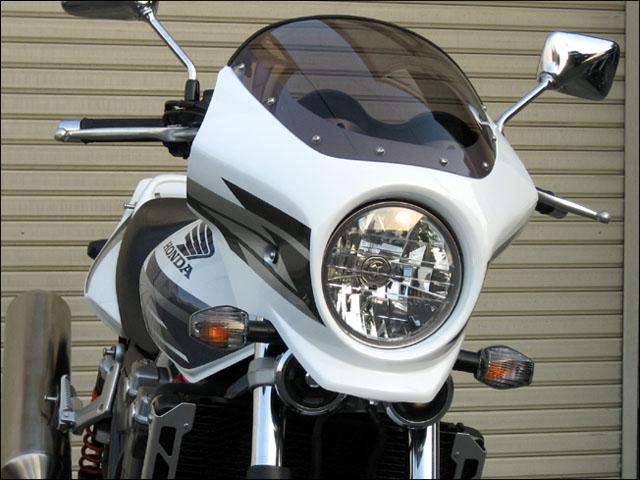 スーパーセール バイク用品 外装 カウルシックデザイン マスカロード 限定トリコロール クリア CB1300SF 08限定色CHIC DESIGN MQ44-W/R/B 取寄品