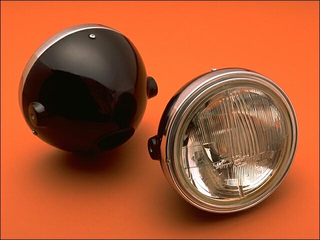 バイク用品 電装系 ヘッドライト&ヘッドライトバルブシックデザイン シビエクラシックライト メーターナシタイプ SR400 500CHIC DESIGN SR-HL1 取寄品