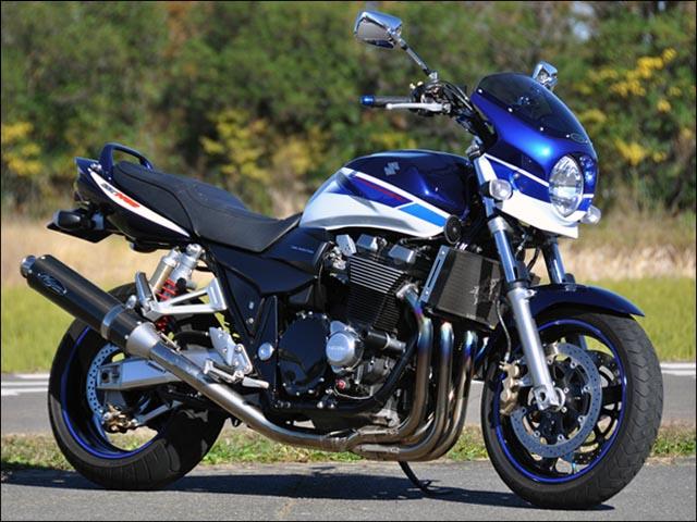 スーパーセール バイク用品 外装 カウルシックデザイン ロードコメット2 SDBLU GSWHT クリア GSX1400CHIC DESIGN RCB42-BL/W 取寄品