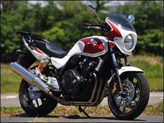 スーパーセール バイク用品 外装 カウルシックデザイン ロードコメット2 クリア PサンビームWHx Cプロミネンスレッド CB400SF V-TECH 14-CHIC DESIGN RCB45C-SwRd 取寄品