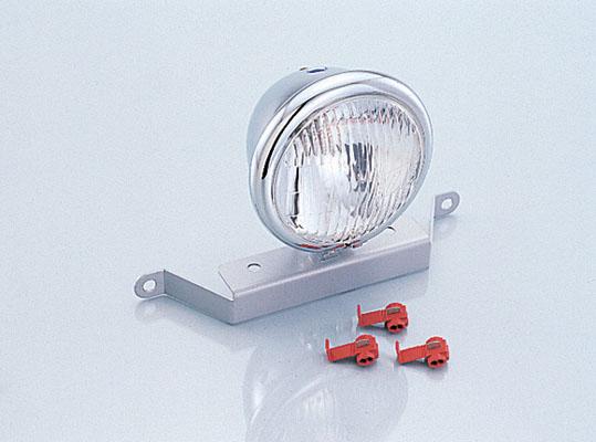 バイク用品 電装系 ヘッドライト&ヘッドライトバルブKITACO ヘッドライト メッキ 4-1 2インチ APEキタコ 800-1122000 取寄品