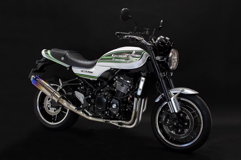 スーパーセール バイク用品 マフラー 4ストフルエキゾーストマフラートリックスター 政府認証フルエキ 焼チタンGP-LOOK Z900RS 18-TRICKSTAR JFT-031-YGPB 取寄品