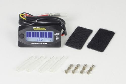 セール バイク用品 電装系 メーターSP武川 COMPACT LCD METER FUEL METER (LEDバックライト付)スペシャルパーツタケガワ 05-07-0002 取寄品