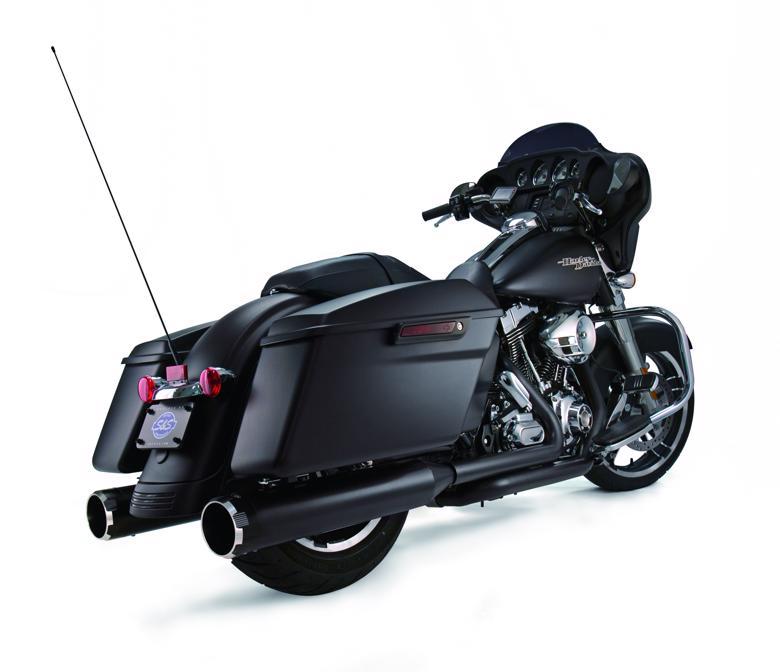 スーパーセール バイク用品 マフラー 4ストスリップオン&ボルトオンマフラーS&S スリップオン スラスター BLK BLK TOURING 95-16エスアンドエスサイクル 550-0621 取寄品