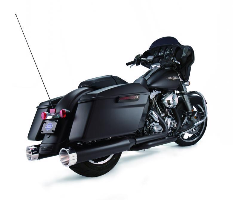 スーパーセール バイク用品 マフラー 4ストスリップオン&ボルトオンマフラーS&S スリップオン トレーサー BLK CH TOURING 95-16エスアンドエスサイクル 550-0626 取寄品