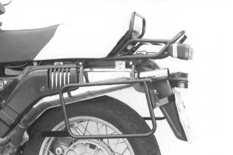 バイク用品 ケース(バッグ) キャリア キャリア&ケースホルダーヘプコアンドベッカー サイドキャリア ブラック R100GS パリダカHEPCO&BECKER 650608 00 01 取寄品