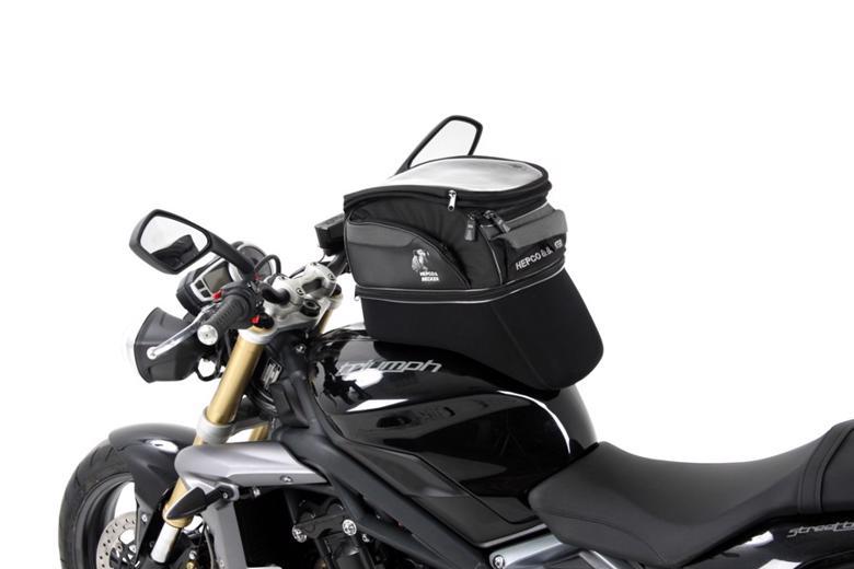 バイク用品 ケース(バッグ) キャリア 車両用ソフトバッグヘプコアンドベッカー タンクバッグ Street Enduro 容量15-20L BlackHEPCO&BECKER 640802 00 01 取寄品