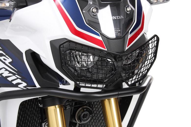 バイク用品 外装 ガード&スライダーヘプコアンドベッカー ヘッドライトグリル ブラック CRF1000L AfricaTwin 18-19HEPCO&BECKER 7009512 00 01 取寄品