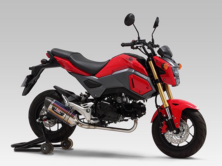 スーパーセール バイク用品 マフラー 4ストフルエキゾーストマフラーヨシムラ 機械曲R-77Sサイクロン STBC GROM 13-17YOSHIMURA 110A-40A-5X82B 取寄品