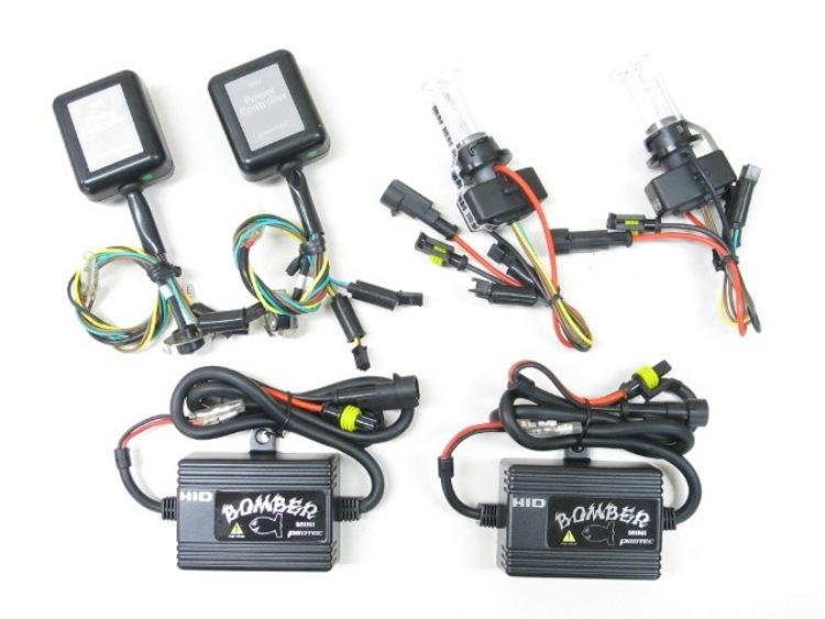 バイク用品 電装系 ヘッドライト&ヘッドライトバルブProtec BOMBER Mini HIDキット 6000K PCX125 150(タイ仕様)10-13 車種専用キットプロテック 64002取寄品