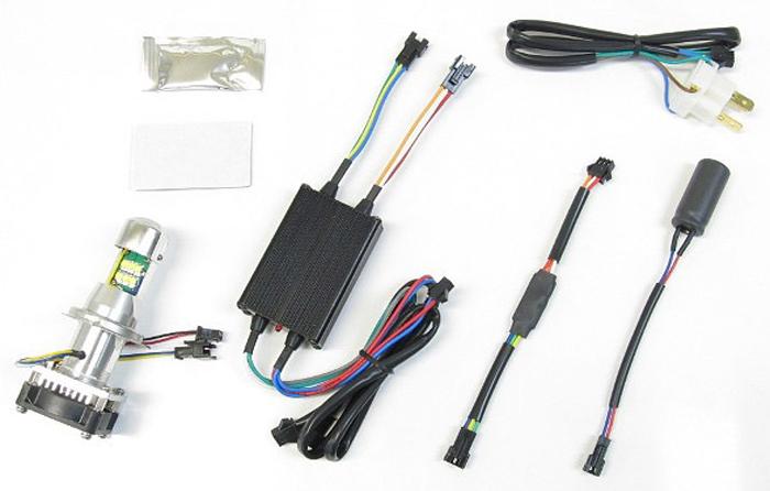 バイク用品 電装系 ヘッドライト&ヘッドライトバルブProtec LB-HS1 LEDヘッドライトバルブ HS1汎用 Hi Lo AC DC12v 30w 30w 6000kプロテック 65043取寄品 スーパーセール