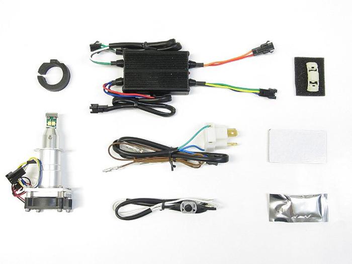 バイク用品 電装系 ヘッドライト&ヘッドライトバルブProtec LB7W-H3 LEDバルブ H7汎用 Hi側用 Hi Lo 20w 20w 3000k ハロゲン色プロテック 65046取寄品