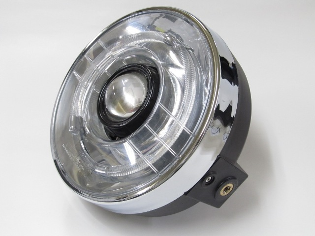 バイク用品 電装系 ヘッドライト&ヘッドライトバルブProtec LEDプロジェクターライト丸目5000kプロテック 63150-50取寄品