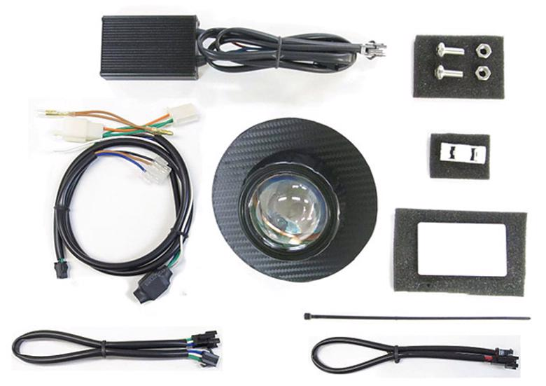 バイク用品 電装系 ヘッドライト&ヘッドライトバルブProtec LEDプロジェクターヘッドライト スーパーカブ110(JA44) 18- ブラックカーボンパネルプロテック 63180-30取寄品 セール