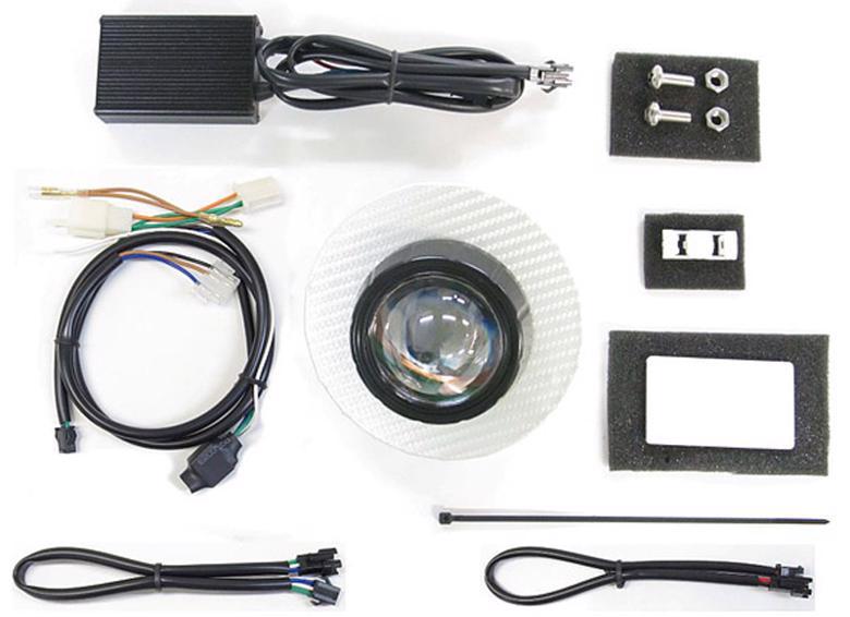 バイク用品 電装系 ヘッドライト&ヘッドライトバルブProtec LEDプロジェクターヘッドライト スーパーカブ110(JA44) 18- シルバーカーボンパネルプロテック 63181-30取寄品 セール