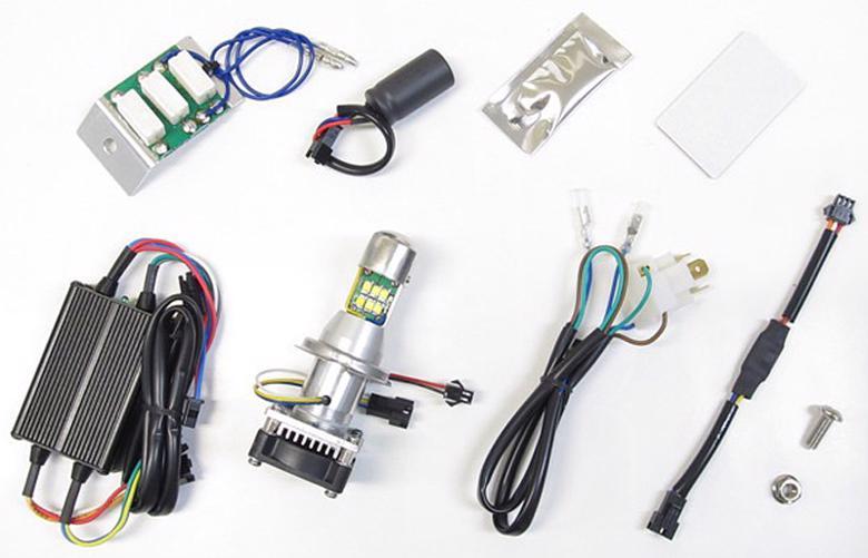 バイク用品 電装系 ヘッドライト&ヘッドライトバルブProtec LB4-BE LEDヘッドライトバルブ HS1 12v 30 30w ベンリィ110 プロプロテック 65049取寄品 スーパーセール