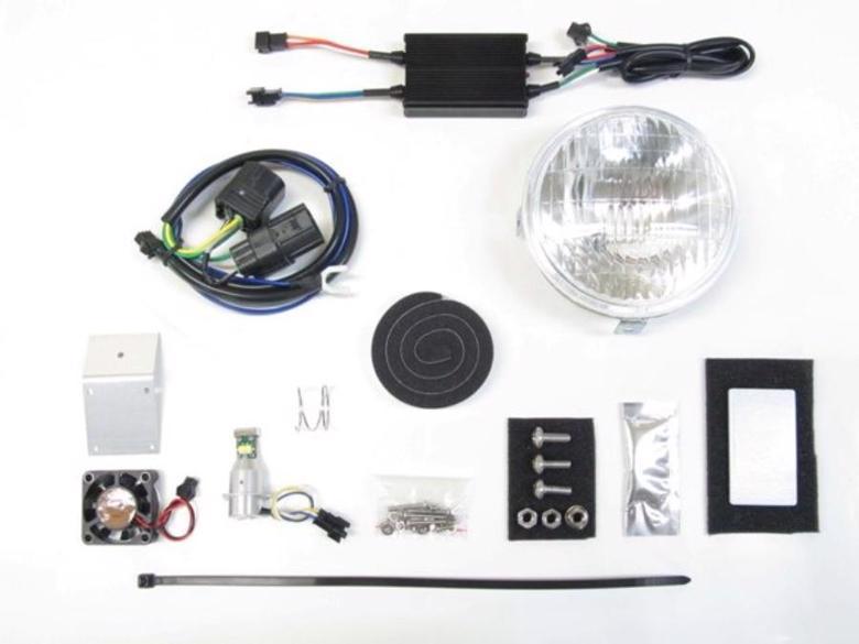 バイク用品 電装系 ヘッドライト&ヘッドライトバルブProtec LBH-H15 LEDクラシカルヘッドライト 6000k クロスカブ50 18-(AA06)プロテック 63009-60取寄品