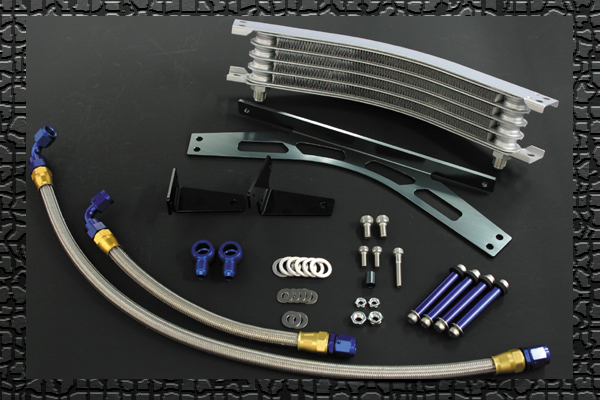 PLOT ラウンドオイルクーラーキット 9ROW ZEPHYR400/X -99 《PLOT ROC618》