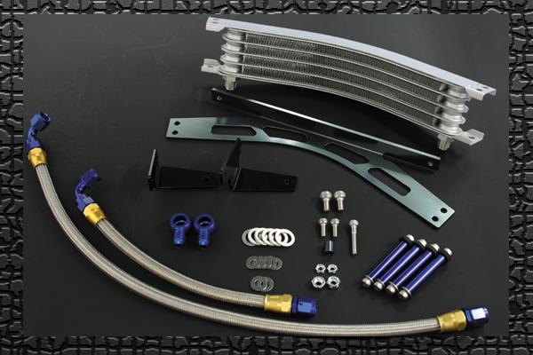 PLOT ラウンドオイルクーラーキット 5ROW BLK ZRX1100/1200R -06 《PLOT ROC684AB》