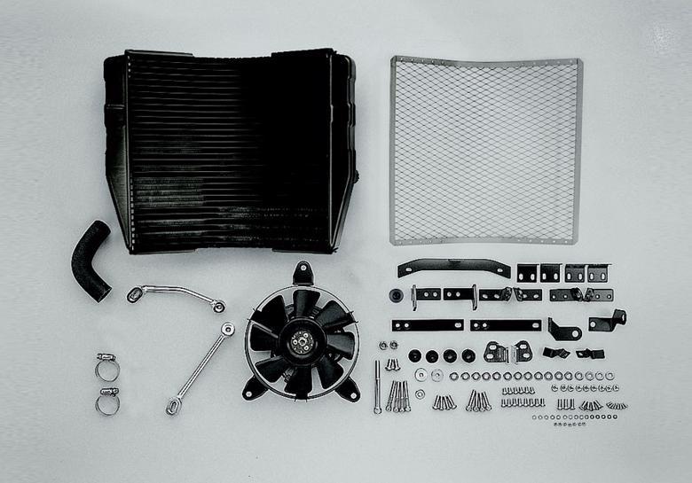 PLOT ラウンドラジエター ST.レーシング GM ZRX1200DAEG 09-16 《PLOT RRK730SR》