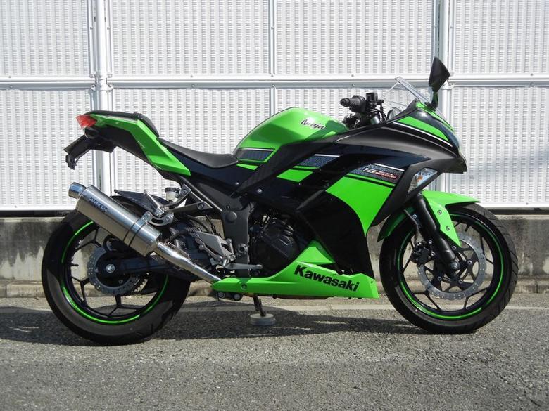 WR`S スリップオン ステン/チタンオーバル Ninja250 13 《ダブルアールズ OV4250JM》