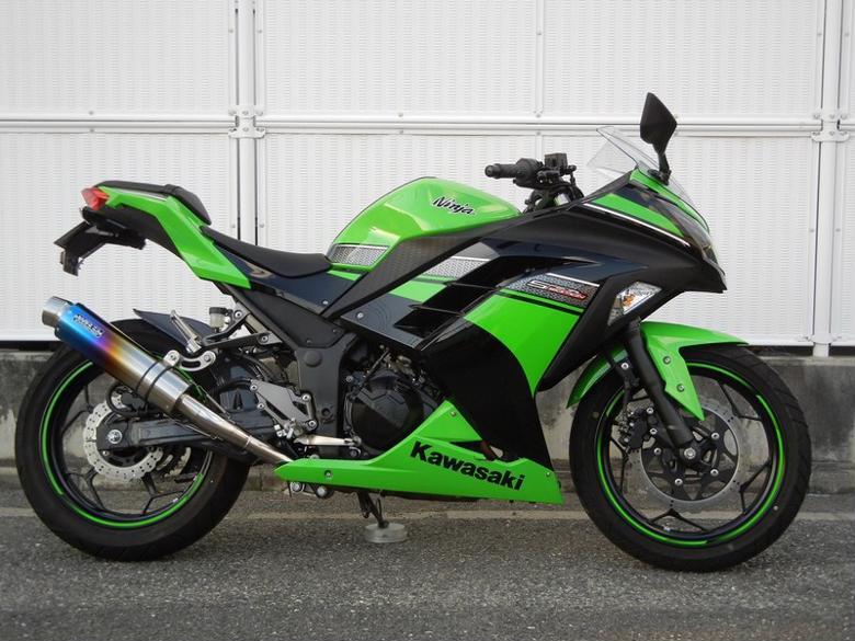 WR`S スリップオン ステン/焼チタンラウンド Ninja250 13 《ダブルアールズ BK4250JM》