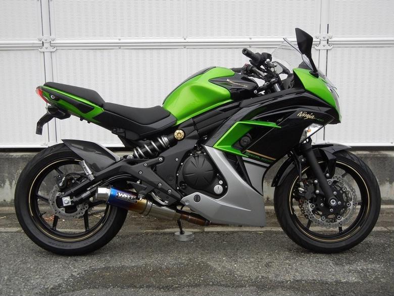 WR`S フルエキゾースト ステンレス/チタン焼色 Ninja400(EBL-EX400E) 《ダブルアールズ LS4420JM》