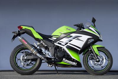 ヤマモト.R ステン スリップオン ケブラー Ninja250 13- 《ヤマモトレーシング 40252-01NKB》