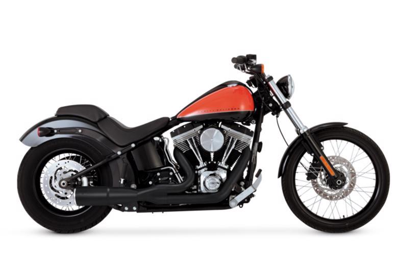 VanceHines HI-OUTPUT 2INTO1 SHORT BK SOFTAIL 86-17 《バンスアンドハインズ[PLOT] 1800-2062》【マフラーの販売ですバイク車体は別売りです】
