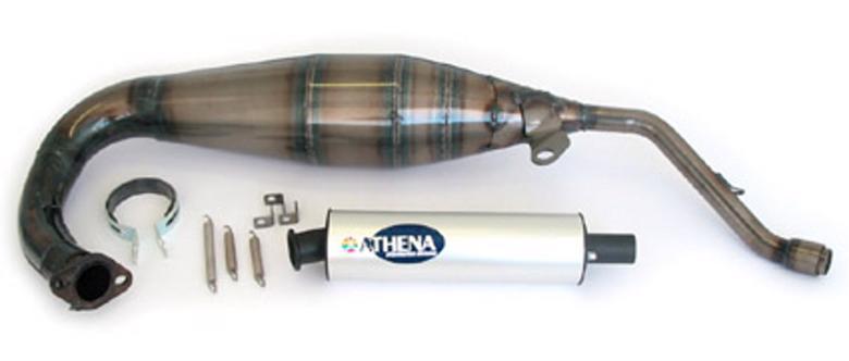 アテナ レーシングエキゾースト サイレンサー:アルミ AF1 125、RS125/REPLI> 《アテナ P400010120001》