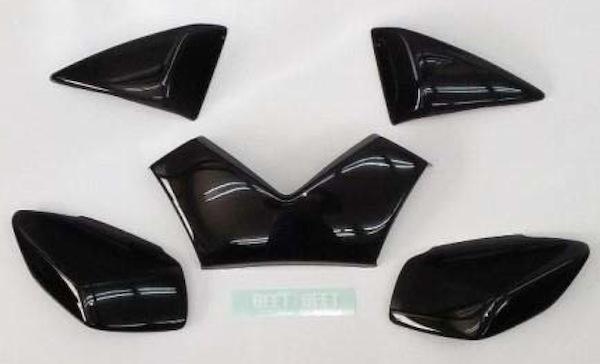 BEET ブラックレンズカバーフルセット ZX-14R ZZR1400 《ビート 0404-KB6-50》