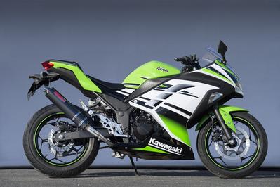 ヤマモト.R スリップオン/カーボンサイレンサー Ninja250 13- 《ヤマモトレーシング 40252-01NCB》