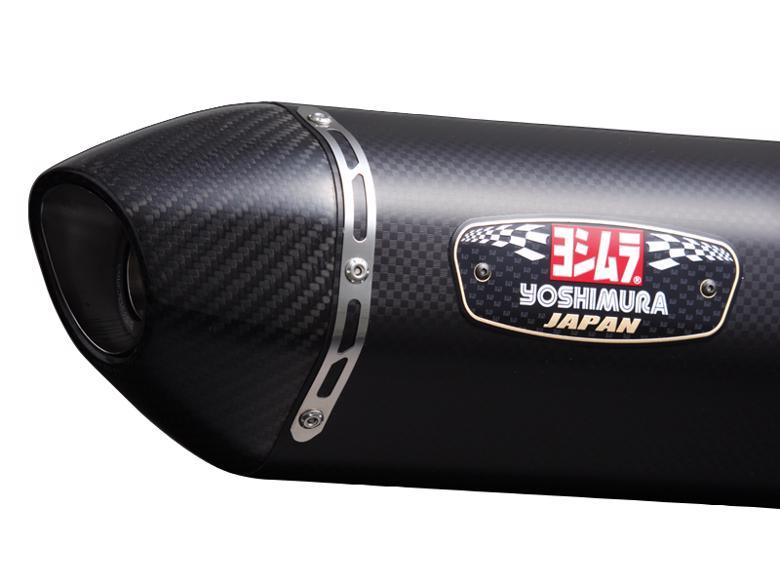 ヨシムラ R77Sサイクロンカーボンエンド SM CYGNUS-X/SR 08-14 国内> 《ヨシムラジャパン 110-336-5121》