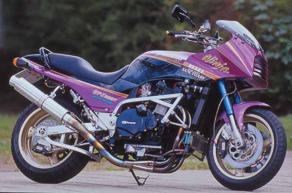 NITRO.R EXマフラーUPチタン/アルミ GPZ750R/900R 《ナイトロレーシング EX-04TUA31》