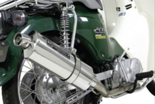 SPタケガワ パワーサイレントオーバルマフラー Super Cub110(JA07) 《スペシャルパーツタケガワ 04-02-0176》