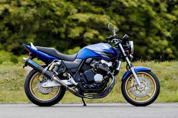 いいスタイル TSR ラウンドカーボン NKRR-チタンマフラー ラウンドカーボン CB400SF 99-07 TSR 《ティーエスアール CB400SF 1800H-N39-E01》, Port Below:f3cbcde0 --- paulogalvao.com