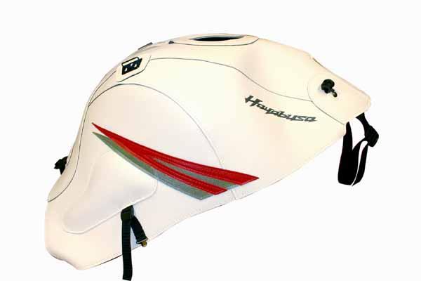 BAGSTER タンクカバー ホワイト/レッド/シルバー GSX1300R 08-13 《バグスター 1567A》
