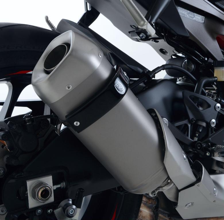 R&G エキゾーストプロテクター ブラック YZF-R1 15-/MT-10 16- 《アールアンドジー RG-EP0020BK》