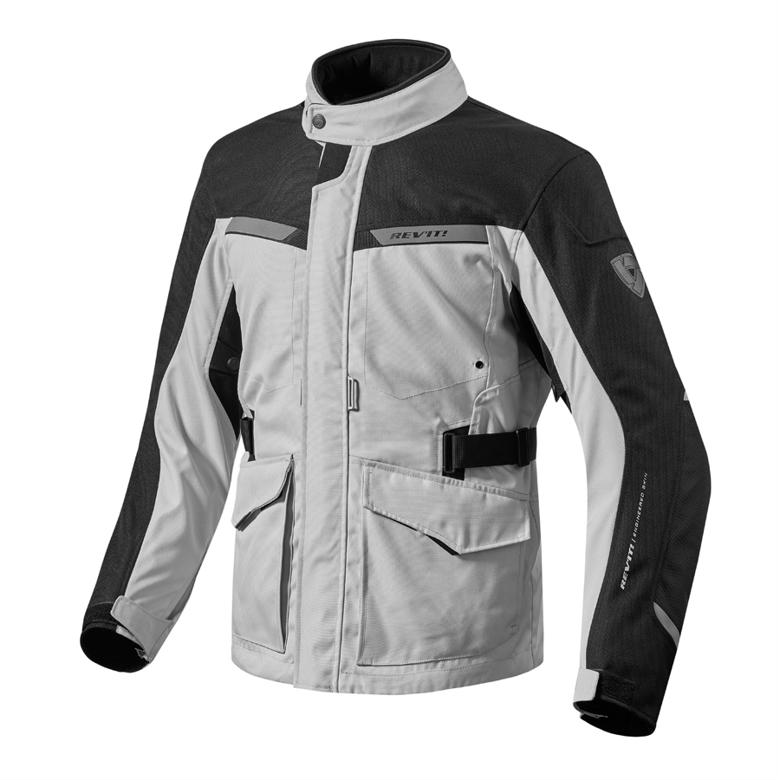 REV`IT エンタープライズ ジャケット シルバー/ブラック L 《レブイット FJT203-4050-L》