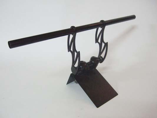 アルキャンハンズ ブラックメッキハンドル 25.4mm サンダーレイザーストレート 《アルキャンハンズ D40019D》