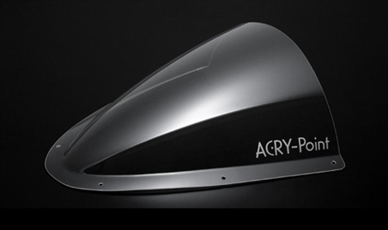 アクリポイント スクリーン レーシング クリア GSX-R600 06-07 《アクリポイント 130010》