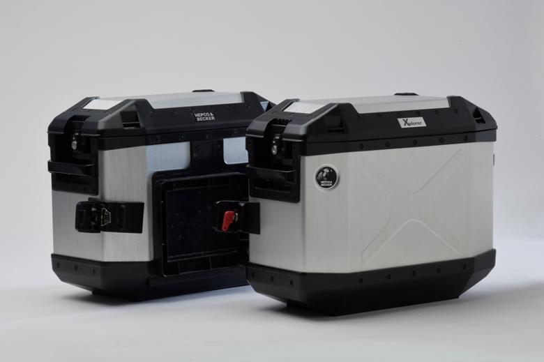 ヘプコ&ベッカ XPLORER 3BOXセット(シルバー) 《ヘプコアンドベッカー HBS-XPR-ALL-Sツーリング ケース 》