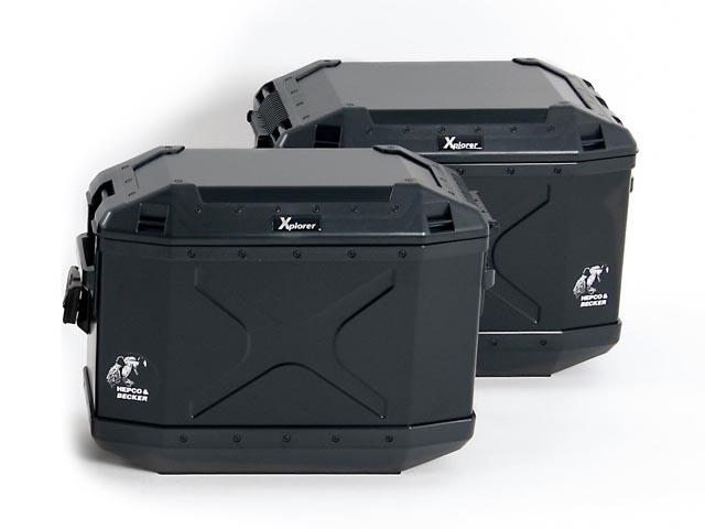ヘプコ&ベッカ XPLORERサイドセット(ブラック) 《ヘプコアンドベッカー HBS-XPR-SS-Bツーリング ケース 》
