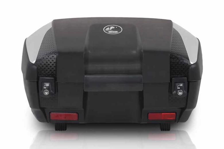 ヘプコ&ベッカ JUNIOR トップケース 55     FLASH 55L ブラック×シルバー 《ヘプコアンドベッカー 610047 00 09ツーリング ケース 》