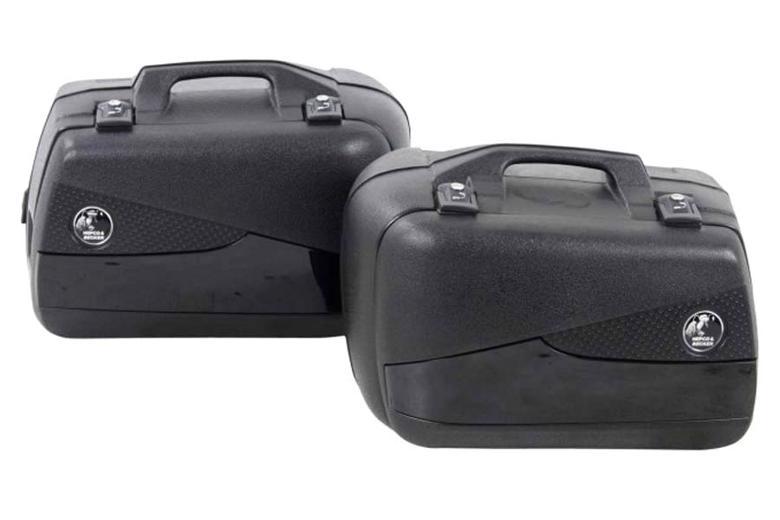 ヘプコ&ベッカ JUNIOR FLASH サイドケース 40  左右セット ブラック×ブラック 《ヘプコアンドベッカー 610236 00 11ツーリング ケース 》