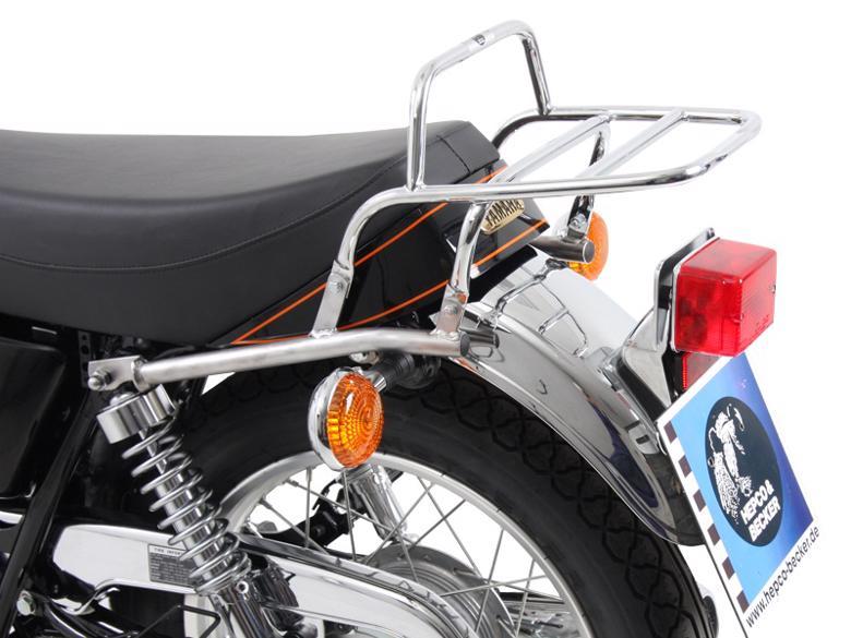 ヘプコ&ベッカ トップケースキャリア リアラック クローム SR400 10-17 《ヘプコアンドベッカー 6504541 01 02ツーリング ケース 》