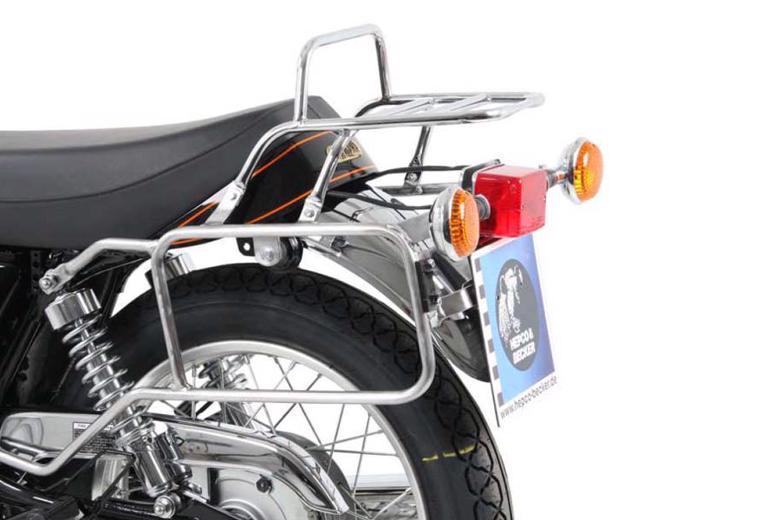 ヘプコ&ベッカ トップ&サイドケースキャリア クローム SR400 10-17 《ヘプコアンドベッカー 6504541 00 02ツーリング ケース 》